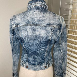 Mavi Charlize Denim Jacket Hawaii Laser Artist VTG